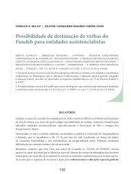 Possibilidade de destinação de verbas do Fundeb ... - Revista do TCE