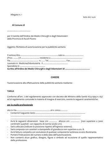 CHIEDE - Ordine di Ascoli Piceno