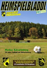 Mythos Kalvarienberg - SV Lauterhofen eV
