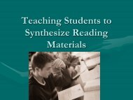 5+Teaching+Students+to+Synthesize+Reading+Materials