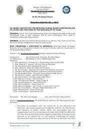 an order constituting the municipal school board ... - Jagna