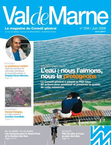 ValdeMarne n° 259 / Juin 2009 - Conseil général du Val-de-Marne
