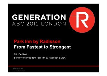Park Inn by Radisson From Fastest to Strongest - Carlson