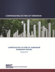 Compensating Victims of Terrorism - Institute for National Security ...