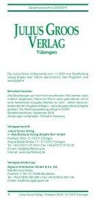 Gesamtverzeichnis 2009 / 2010 - Stauffenburg Verlag - Page 2