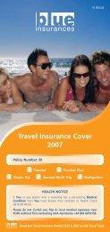 Travel Insurance Cover 2007 - Blue Insurances