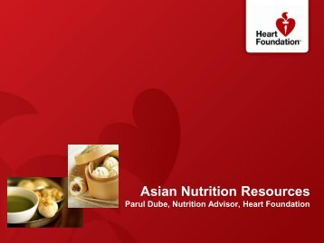 Heart foundation Asian nutrition resources