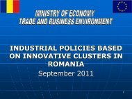 industrial policies based on innovative clusters in romania