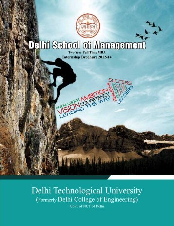 MBA 2012-14 Internship Brochure - Delhi School of Management