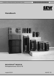 MOVIDRIVE® MDX61B Multigeberkarte DEU21B - SEW-Eurodrive
