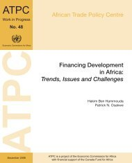 Financing Development in Africa - United Nations Economic ...