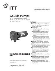 Goulds Pumps - Clean Water Solutions