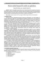 Generic modular framework for robotic arm applications - Ecet