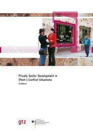 Private Sector Development in (Post-) Conflict Situations - Axel Mierke