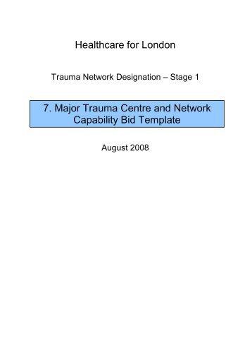 7. Major trauma centre and network capability bid - London Health ...