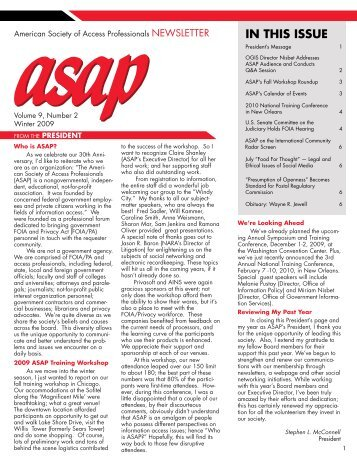 ASAP Newsletter - American Society of Access Professionals