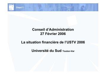 Diapo 2 - Université du Sud - Toulon - Var
