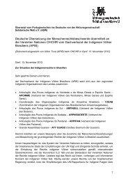 Deutsche Übersetzung der Menschenrechtsbeschwerde übermittelt ...