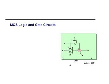 MOS Logic and Gate Circuits