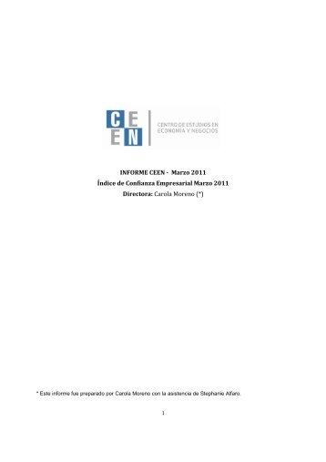 Marzo 2011 - Facultad de Economía y Negocios UDD - Universidad ...