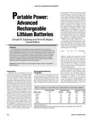 Portable Power: Advanced Rechargeable Lithium ... - Group Sadoway