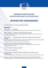 ENTWURF DER TAGESORDNUNG - Europa
