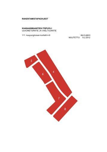 Kaanaanmaantien itäpuoli, rakentamistapaohjeet 9.2.2012 - Kokkola