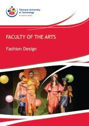 Fashion - Tshwane University of Technology
