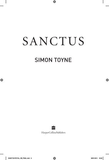 Sanctus opening chapters (PDF) - Simon Toyne