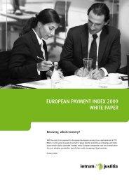 EuropEan paymEnt IndEx 2009 WHItE papEr - Intrum Justitia