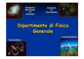Dipartimento di Fisica Generale - JEM-EUSO