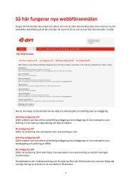 Instruktion webb föranmälan - E-on