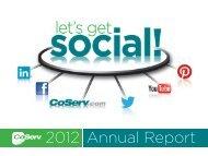 Annual Report 2012 - CoServ.com