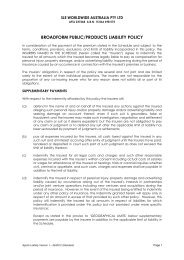 Public and Products Liability including Professional ... - Curtin Saints