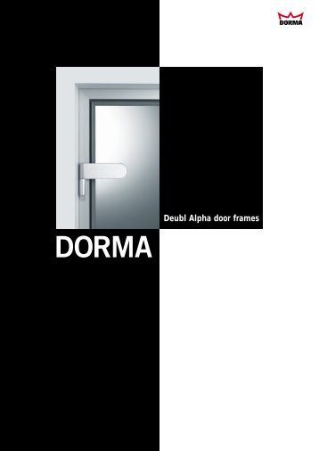 Deubl Alpha door frames - Fit In Glas