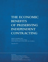 The Economic Benefits of Preserving Independent Contracting