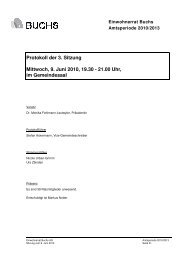 Protokoll der 3. Sitzung Mittwoch, 9. Juni 2010 ... - Gemeinde Buchs