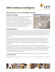 ENVI in Defense & Intelligence - Exelis VIS