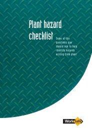 Plant Hazard Checklist - WorkSafe Victoria
