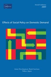 Effects of Social Policy on Domestic Demand - Asian Development ...