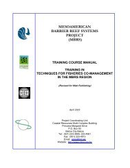 Training Manual on Techniques for Fisheries Co-Management in the ...