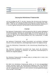 (Satzung des Wohnheimes Friedenstrasse-Stand 2012)