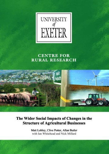 The wider social impacts of changes in the structure of agricultural ...