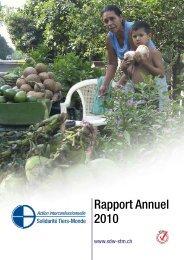 Rapport Annuel 2010 - Solidarität Dritte Welt