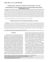 Condicionamento Alimentar de Alevinos de Trairão (Hoplias cf ...