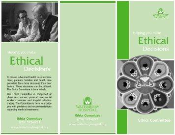 Ethical Decisions Brochure - Waterbury Hospital