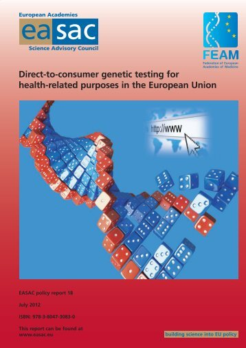 Direct-to-consumer genetic testing for health-related ... - Feam.eu.com