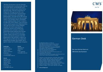 German Desk - CMS Derks Star Busmann