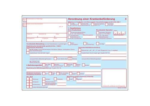 Neues Formular Verordnung Einer Krankenbeforderung 14