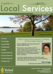 RCC Army Induction Pack - Rutland County Council